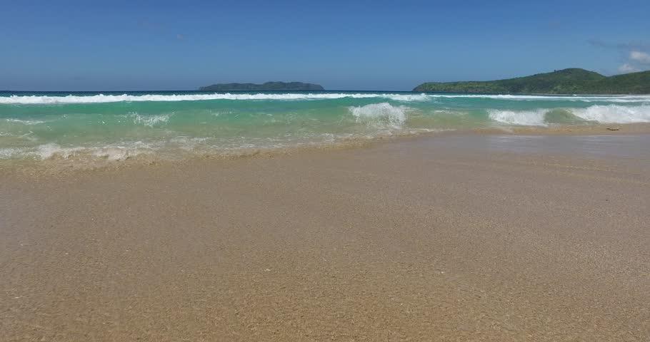 Sea wave on a sandy beach a summer day | Shutterstock HD Video #15124777