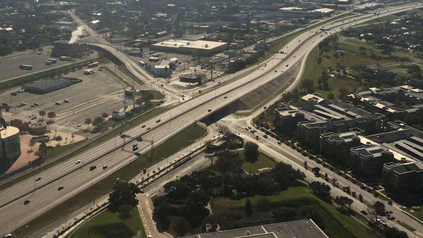 4K UltraHD Aerial view of San Antonio, Texas traffic   Shutterstock HD Video #15187207
