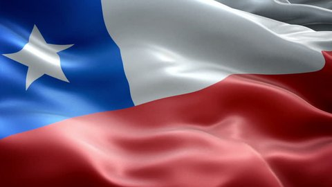 Chile national flag. (New surge effect)