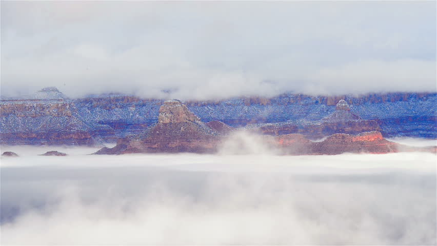 The Grand canyon national park in clouds | Shutterstock HD Video #15235426