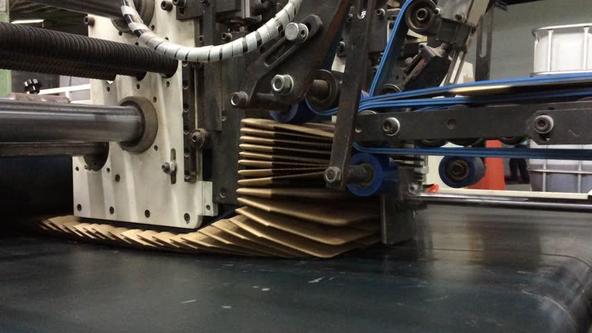 Folding Machine, Carton, Box, Kraft Paper, Corrugated Paper Box Factory
