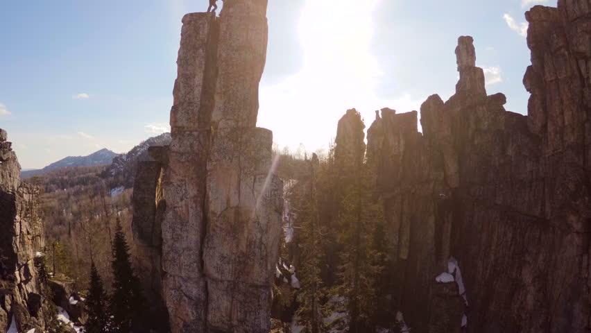 Header of climb