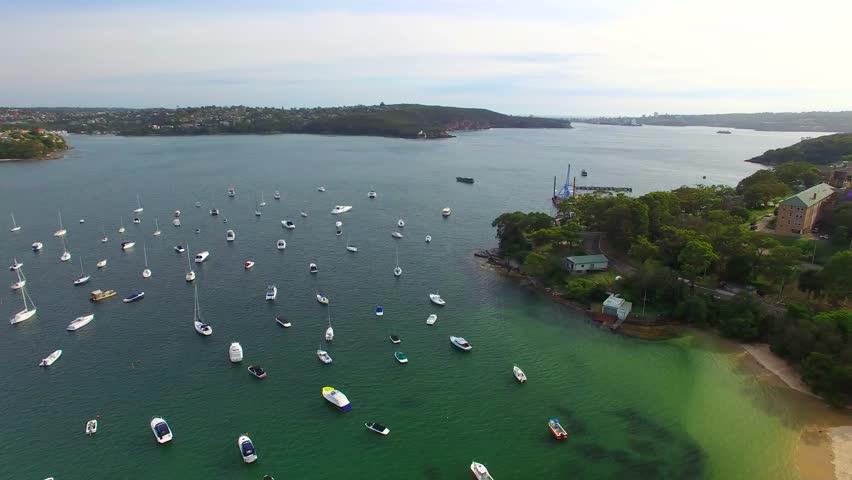 Aerial view of Balmoral each near Sydney, NSW - Australia