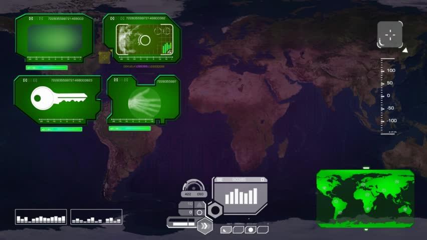 World map scanned by software   Shutterstock HD Video #15354697