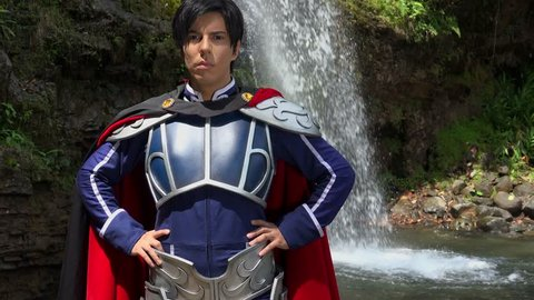 Confident Cosplay Male Prince