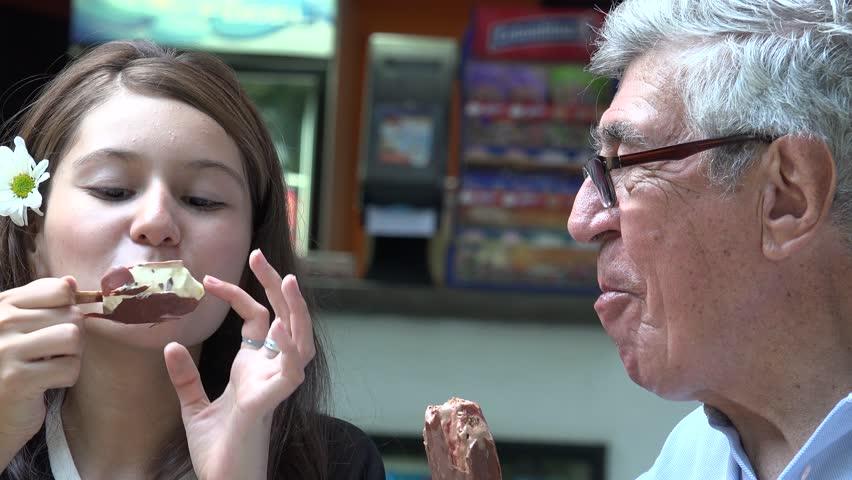 Teen model licking pov