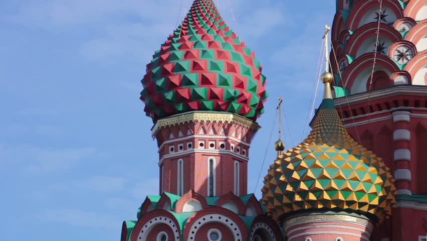 St Basil's Church, temple dome panorama view | Shutterstock HD Video #15376387