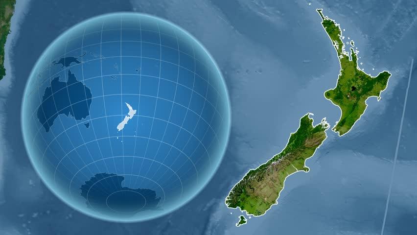 New Zealand Map Stock Footage Video Shutterstock
