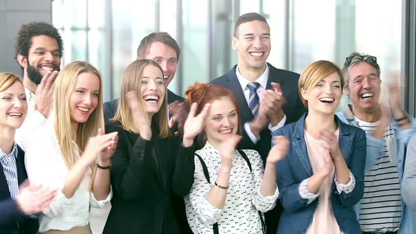 Portrait of Happy Business People Stock Footage Video (100 ...
