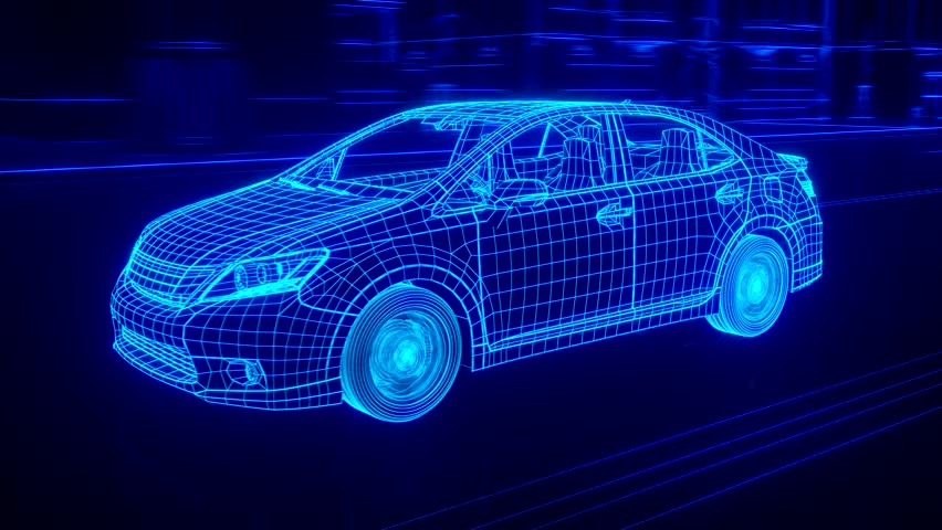 City car Wireframe View - conceptual #15427717