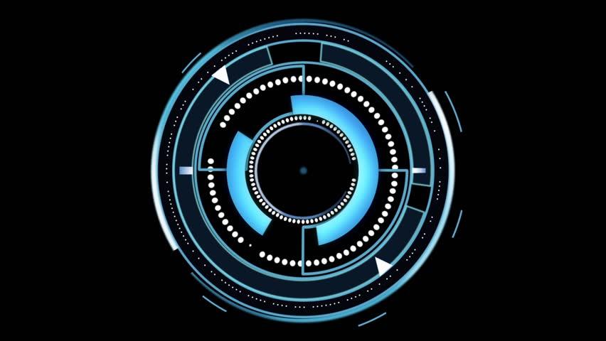 spinning circles abstract HUD user interface