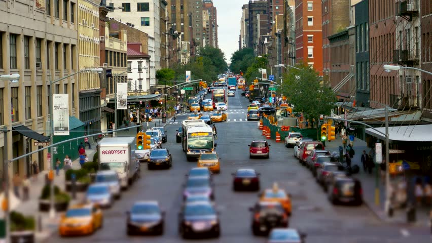 NEW YORK, USA - CIRCA JULY 2016: City street in Manhattan as traffic passes. | Shutterstock HD Video #15552853