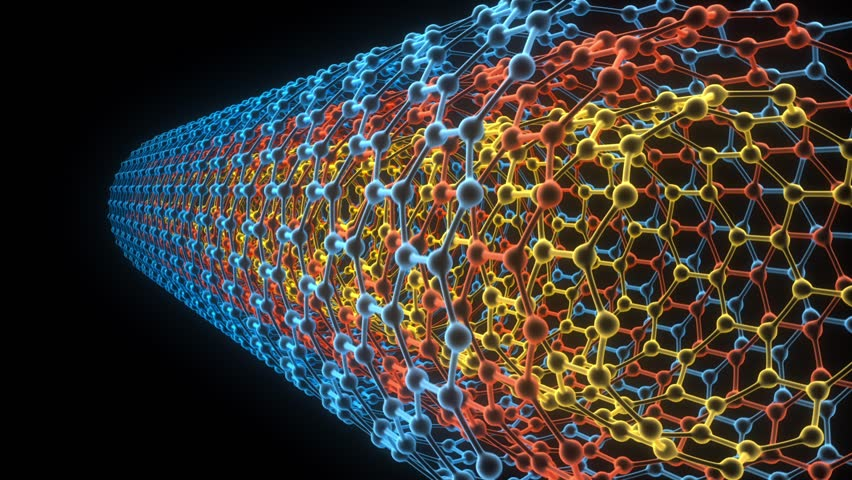 Conceptual animation showing telescopic motion of multi walled carbon nanotubes.