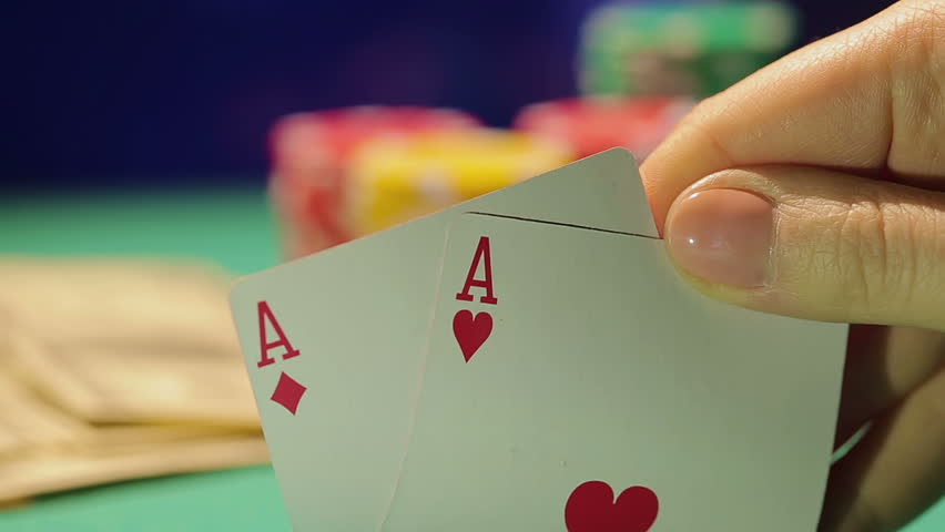 Poker Table Professional Dolly Shot Stock Footage Video