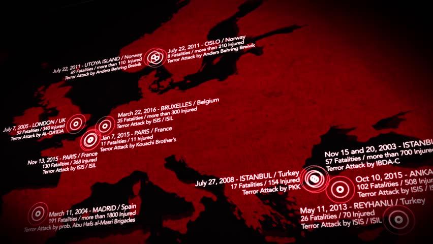 4k Map of Major Terrorist Stock Footage Video (100% Royalty-free) 15585367  | Shutterstock