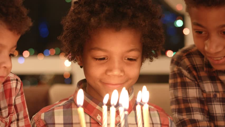 Black Children with Birthday Cake  Stock Footage Video (100% Royalty-free)  15588607   Shutterstock