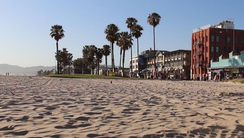 Venice Beach California Bike Path Board Walk Stock Footage Video