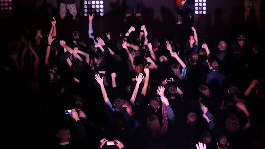 flashing Concert crowd public