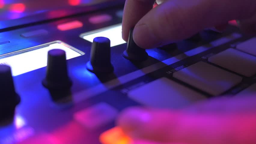 Close-up of fingers of a Dj during a live performance at a party. | Shutterstock HD Video #15648067