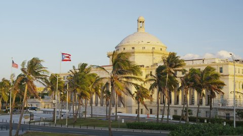 Capitol of Puerto Rico building in San Juan. Landmark in the capital of Puerto Rico. Includes House of Representatives and Senate. Building is also tourist attraction destination near old San Juan.