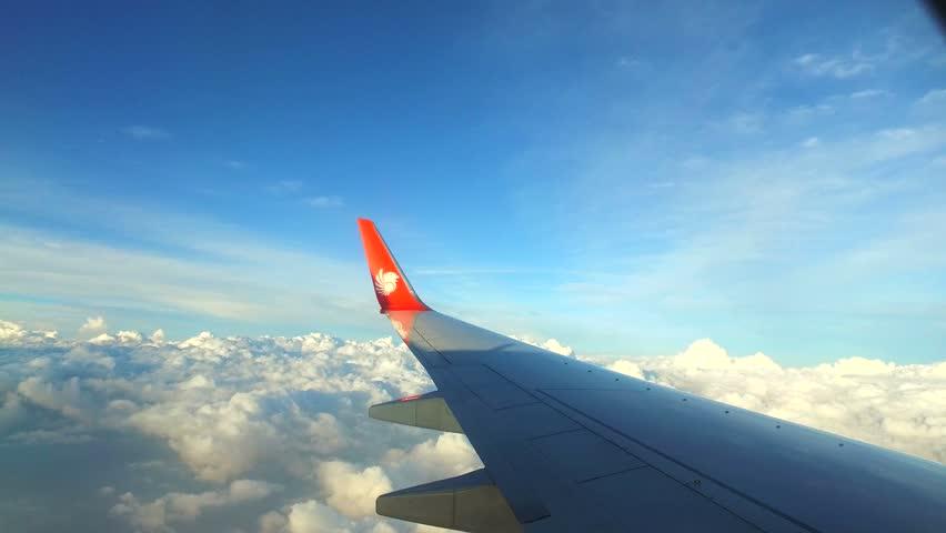 KUALA LUMPUR, MALAYSIA - CIRCA MART 2016: Flight from Malaysia to Nepal. | Shutterstock HD Video #15789166