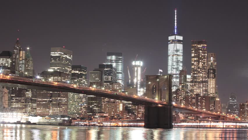 Hd0005a Time Lapse Of New York Citys Brooklyn Bridge Spanning