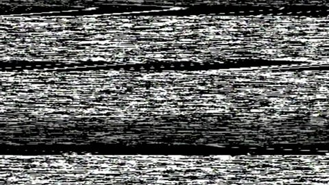 VHS TV Noise Footage, black and white