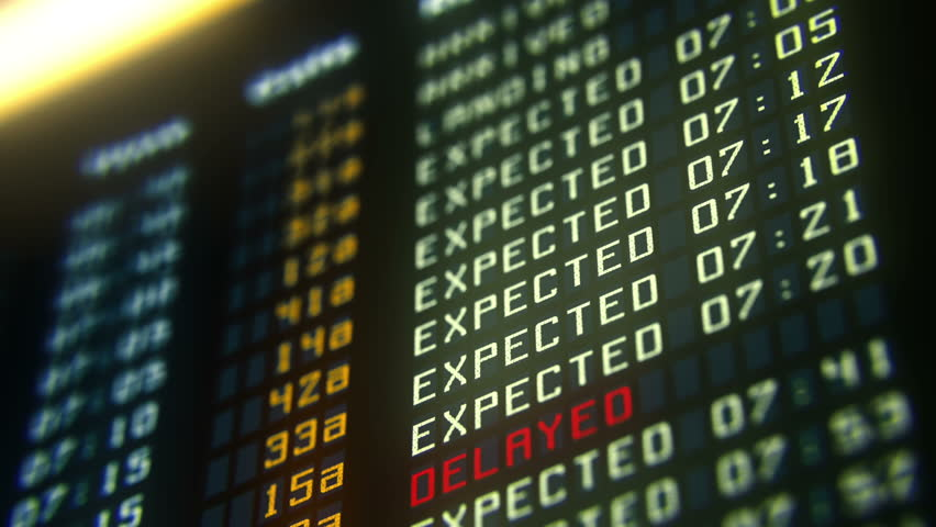 Flights canceled or delayed on information board, terrorism threat at airport | Shutterstock HD Video #15926947