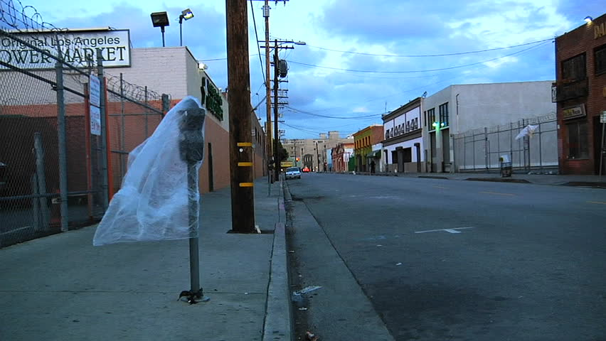 An empty street in Los Angeles