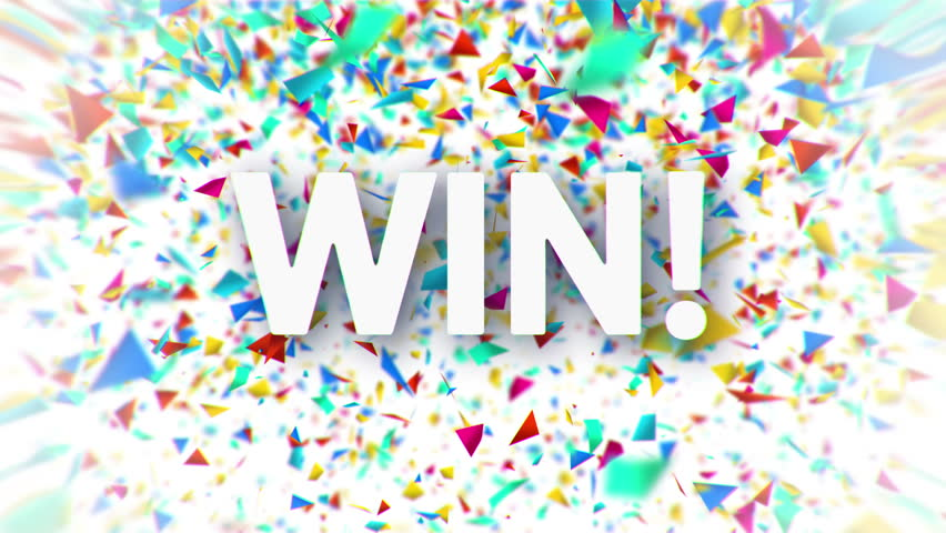 Win White Sign With Falling Colorful Confetti Animation On White Background Stock Footage Video  Shutterstock