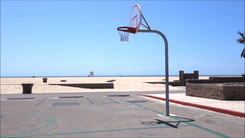 Basketball Court At Beach Stock Footage Video 15955507 Shutterstock
