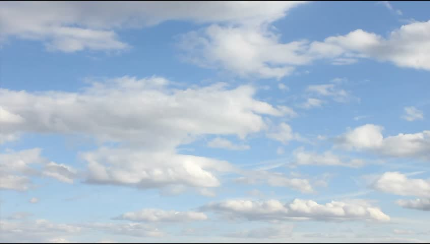 White, real, nice, soft clouds & blue sky, UHD, 4K   Shutterstock HD Video #16025647