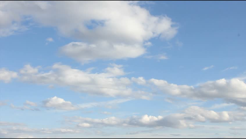 White, real, nice, soft clouds & blue sky. UHD. | Shutterstock HD Video #16025647