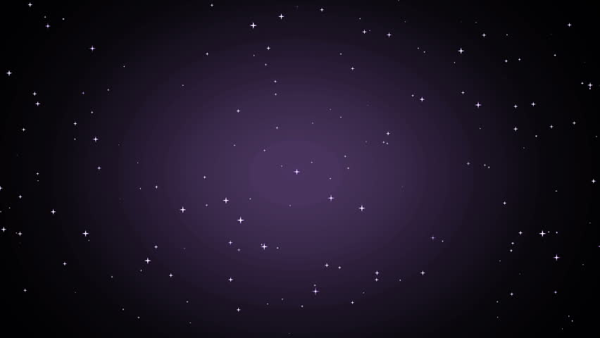 Animation violet with stars on black background. Abstract violet background with stars. Seamless loop. | Shutterstock HD Video #16042327