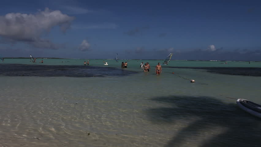 September 2011 - Bonaire - Tourists enjoying the Carribean waters