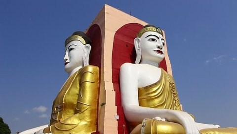 Kyaikpun Pagoda  in Yangon Myanmar Tourist Attraction Public Temple Area