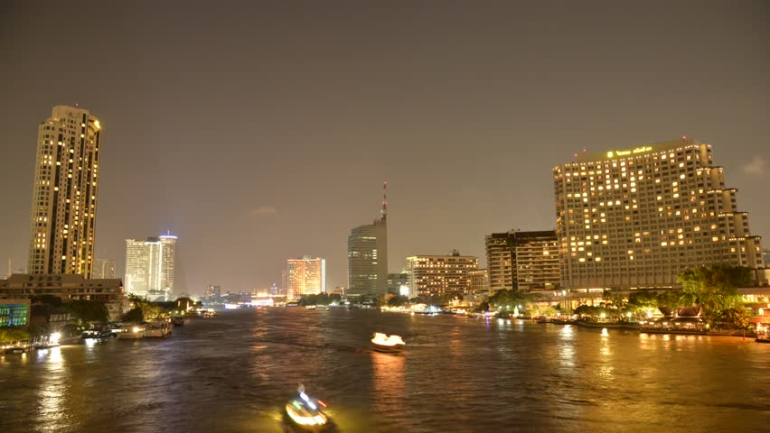 Time lapse of River in Bangkok  | Shutterstock HD Video #16102627