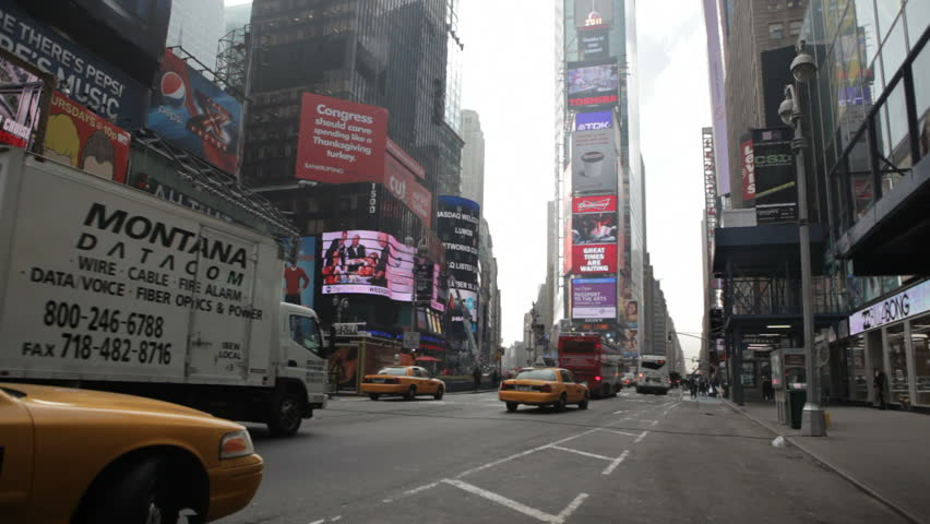 NEW YORK - AUGUST  11: Foot and vehicle traffic in Times Square on November 11, 2011 in New York.