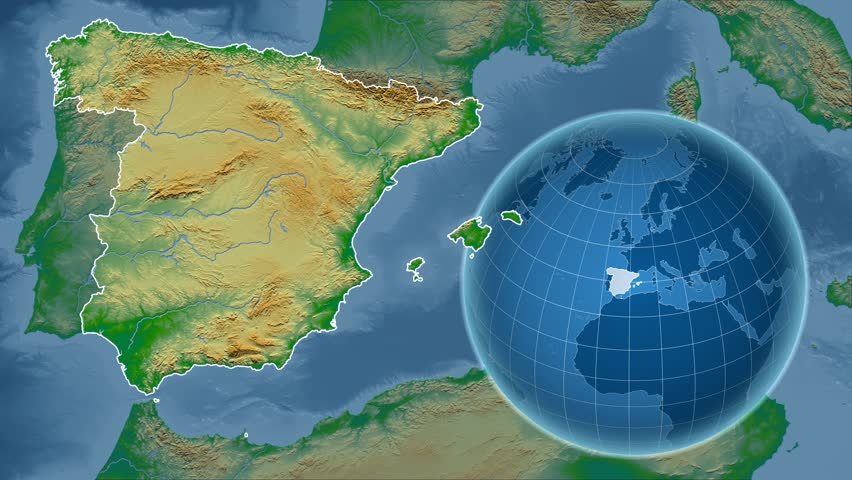 Serbia Shape Animated On The Physical Map Of The Globe Stock Footage