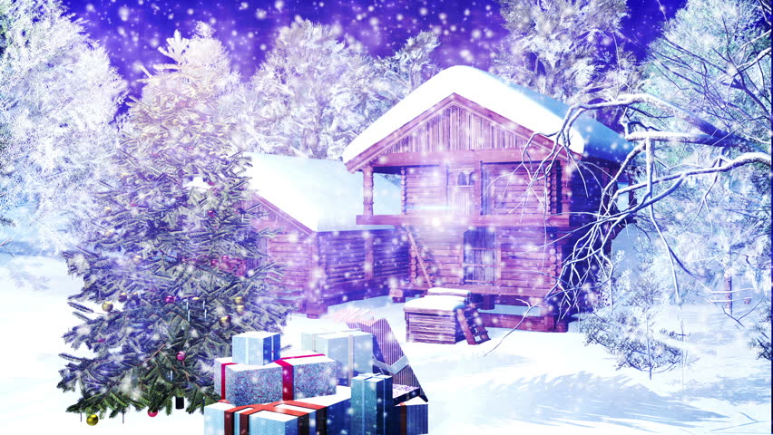 Snowing Christmas Scene.Christmas Snowy Scene 3d Animation Stock Footage Video 100 Royalty Free 1614007 Shutterstock