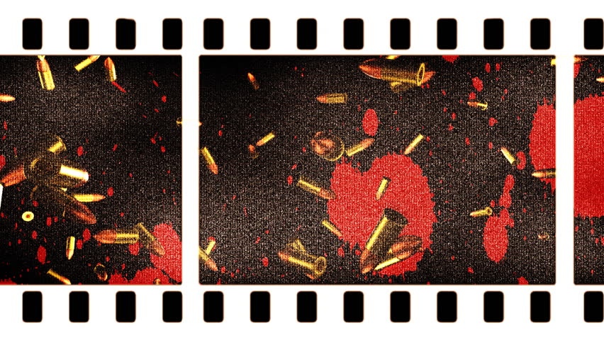 Violence in Movies Looping Animated Background