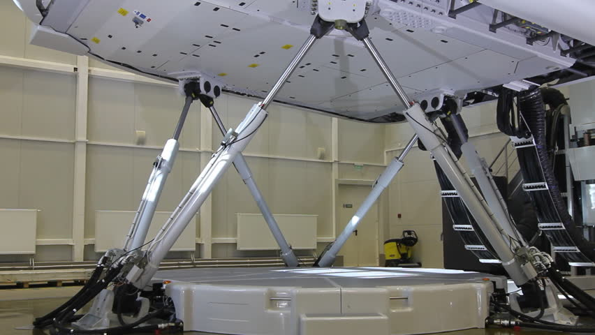 Simulator for training pilots of the aircraft