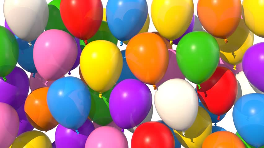 Balloons Isolated Filling Up The Screen With Alpha Mask Version Included 4k Stock Footage