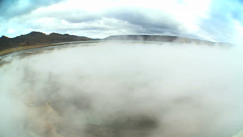 Underground Volcanic Steam in Wide Angle | Shutterstock HD Video #1642237