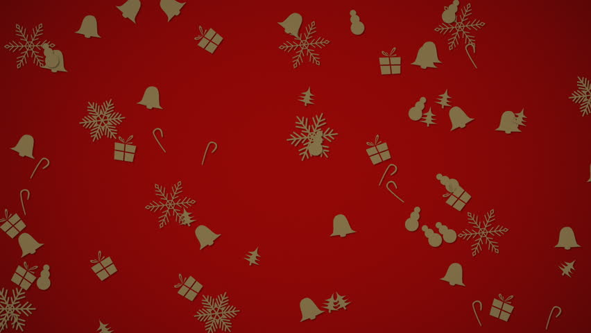 Winter snowflakes falling slowly down a gray gradient background | Shutterstock HD Video #16459033