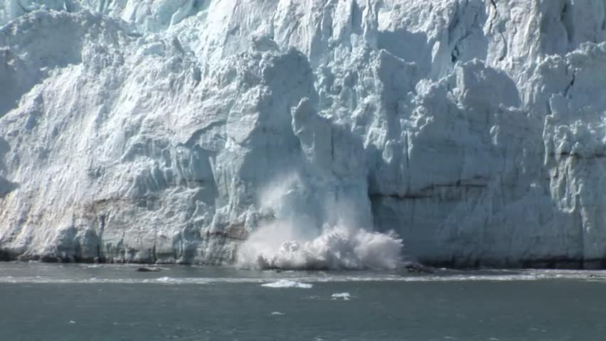 Ice Falling off a Glacier | Shutterstock HD Video #16509277