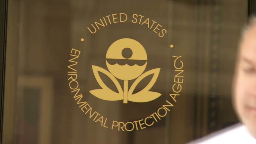 WASHINGTON, DC, - April 2016: Seal on door of Environmental Agency