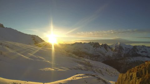 Time-lapse of snow covered mountains. - Time-Lapse - 1920x1080 - Full HD