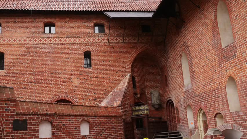 malbork poland september 13 2016 castle of the teutonic order in malbork is the largest castle in the world by surface area it was built in marienburg