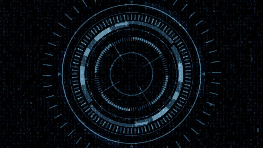 Futuristic Hud Target with Computer Data Screen at the end. Good for tech title and background, news headline business intro screensaver. | Shutterstock HD Video #16715137